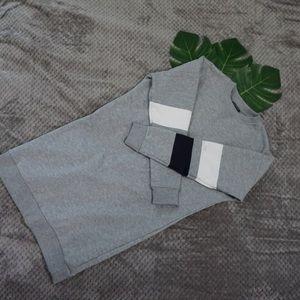 Topshop grey sweatshirt dress